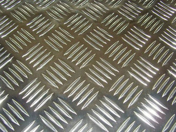 Flat Five Diamond Embossed Aluminium Sheet / Aluminium Tread Plate With ASTM Standard